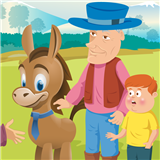 Fable: Man, Boy and Donkey