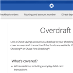 What is Chase Overdraft Protection?