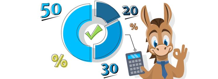 50/30/20 Budget Calculator