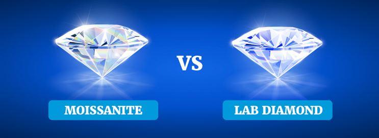 Moissanite vs Diamond vs Lab Diamond