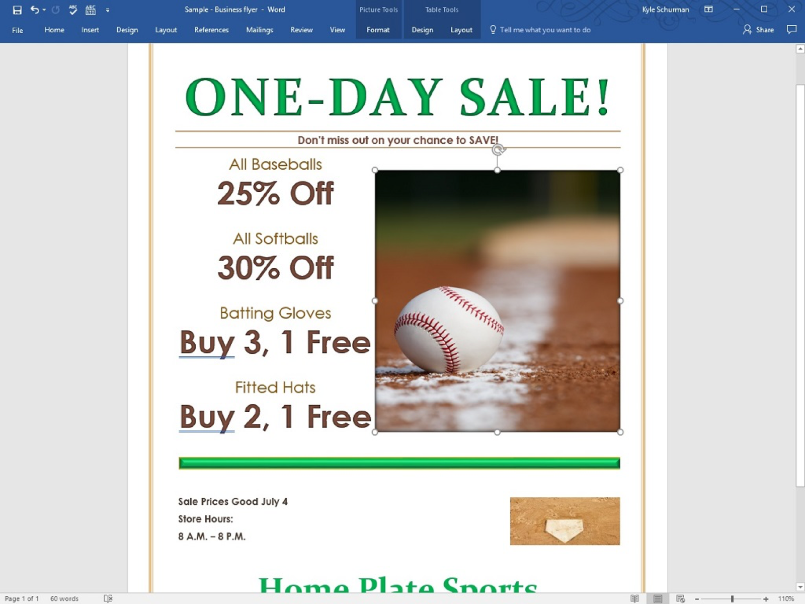 how to make a business flyer in word